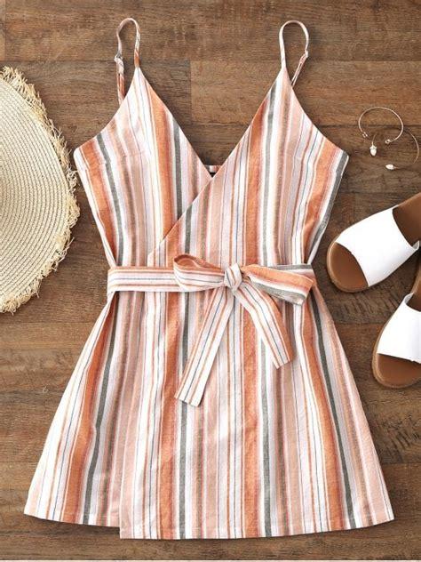 Big Stripe Top Or Dress belted wrap stripes mini dress stripe mini dresses s zaful