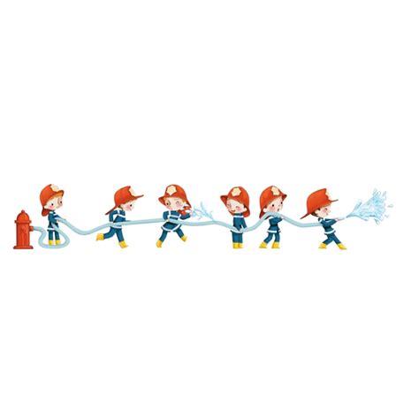 stickers pr駭om porte chambre sticker enfant pompiers arroseurs 2 acte d 233 co