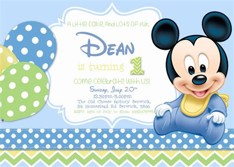 Mickey Baby Shower Invitations by Bestofpicture Images Pictures Of Baby Mickey