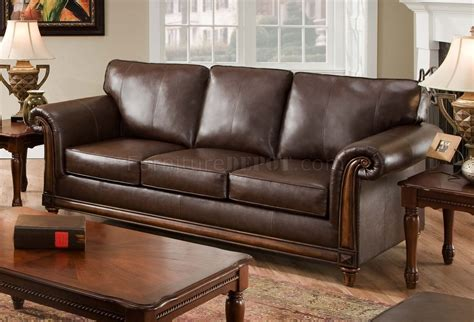 Coffee Soft Bonded Leather Sofa Loveseat Set W Options Coffee Leather Sofa