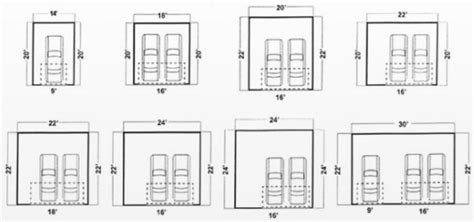 dimensions of a 2 car garage standard two car garage door size standard garage door