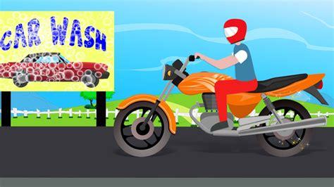 boat wash cartoon bike car wash bike race videos for kids car wash
