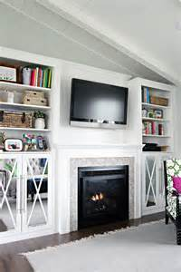 Diy Built In Bookshelves Fireplace Iheart Organizing Diy Fireplace Built In Tutorial