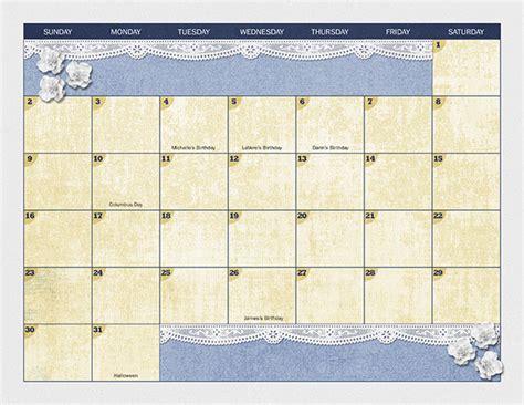 digital calendar template digital scrapbooking calendar template scrapsimple