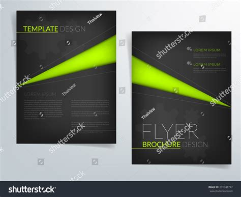 black brochure template black brochure template vector background flyer design