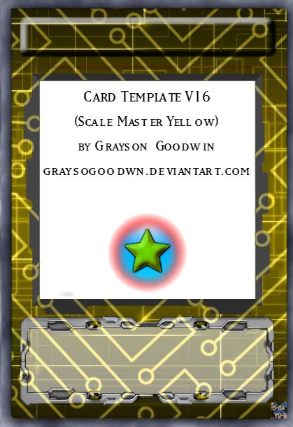 yugioh orica card template yu gi oh card template v16 scale master yellow by