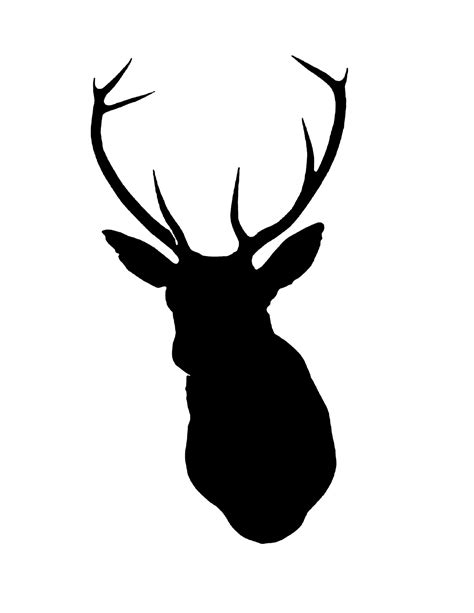 reindeer head template clipart best