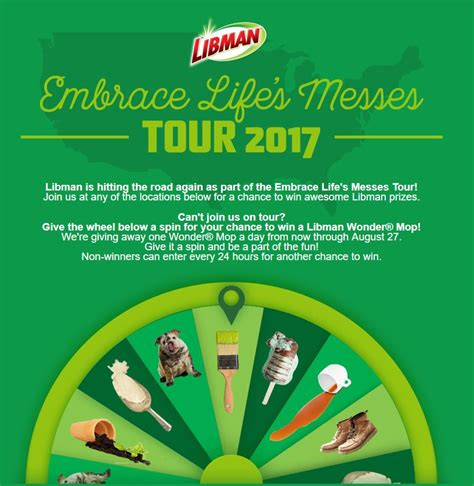 Spin To Win Sweepstakes - the libman spin to win summer sweepstakes mumblebee inc