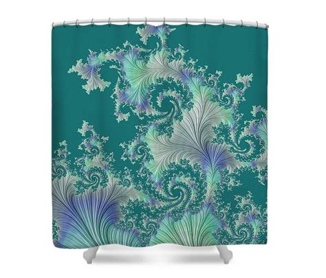 turquoise and purple curtains fantasy fabric shower curtain turquoise green purple ivory