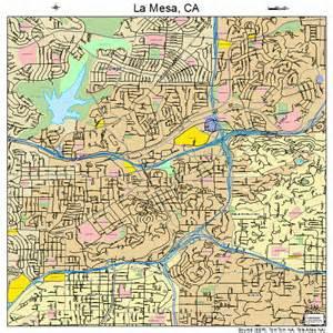 la mesa california map 0640004