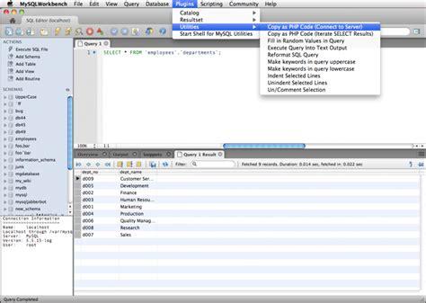 sql work bench mysql workbench php development helper plugins the