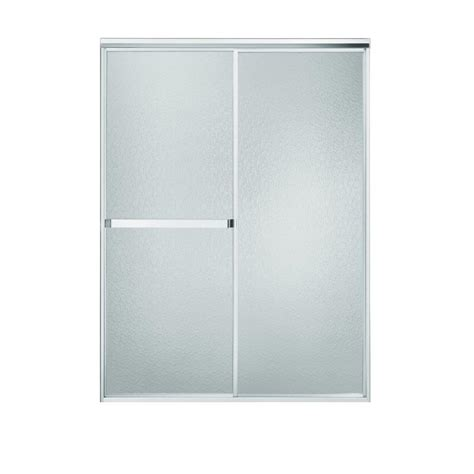 Sterling Bypass Shower Door Sterling Plumbing Standard 48 In X 65 In Framed Bypass Shower Door In Silver 660b 48s On Popscreen