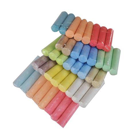 where can i buy colored chalk powder dustless sidewalk jumbo white colored barrelled chalk