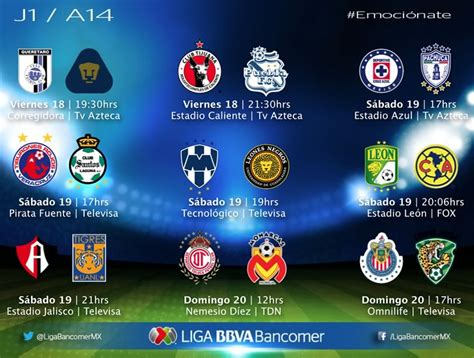 resultados d la jornada 9 2016 liga mx 5 de marzo partidos de la jornada 1 del apertura 2014 de la liga mx