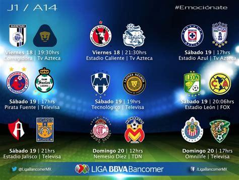 Calendario Jornada 16 Liga Mx Apertura 2014 La Liga Mx Jornada 16 New Calendar Template Site