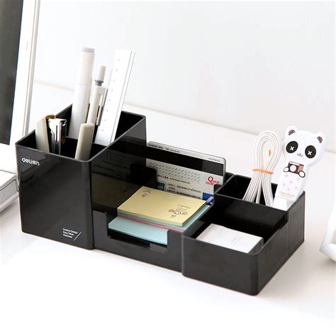 Desk Makeup Organizer High Quality Simple Desktop Shelves Storage Box Desk Decor Stationery Makeup Cosmetic Organizer