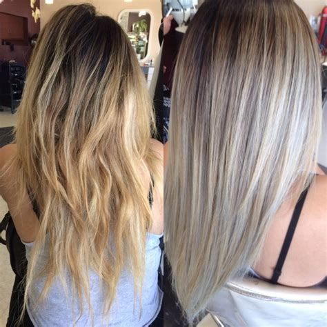 platinum blonde and brown ombre platinum blonde with brown ombre trendy hairstyles in