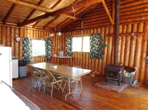 flying with large in cabin otter island big cabin dining room loch island lodge ontario canada fishing trips