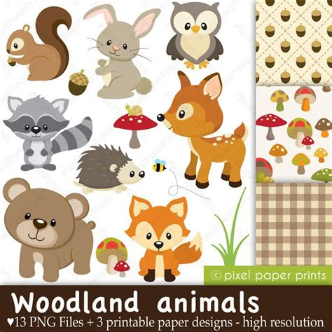 Woodland Animals Baby Shower by Baby Woodland Animals Clipart