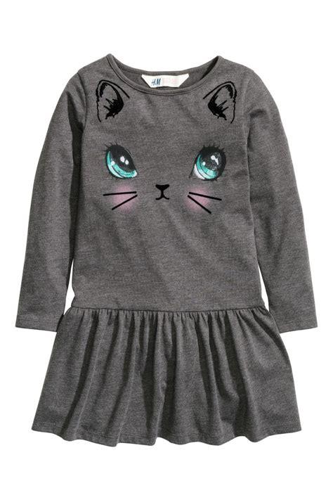 H M Jersey Comfortable jersey dress gray sale h m us