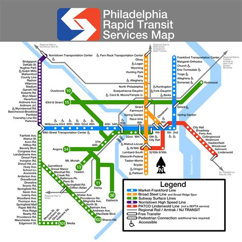 septa regional rail map unofficial map philadelphia septa transit maps