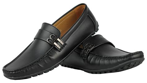 mens loafers with buckle mens faux leather b buckle smart casual shoes loafers ebay