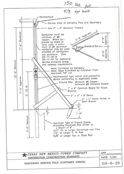 electric pole diagram wiring diagram temporary power pole 35 wiring diagram