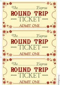 polar express ticket printable template polar express tickets template printable free new