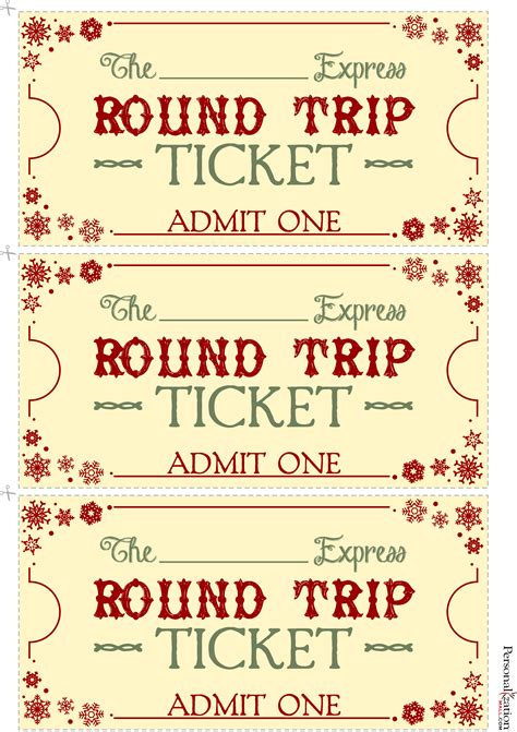 polar express ticket printable template polar express tickets template printable free new