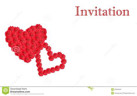 design carte d invitation le design de carte blanc d invitation avec la fleur rouge