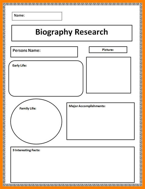 biography card template 7 biography templates emmalbell