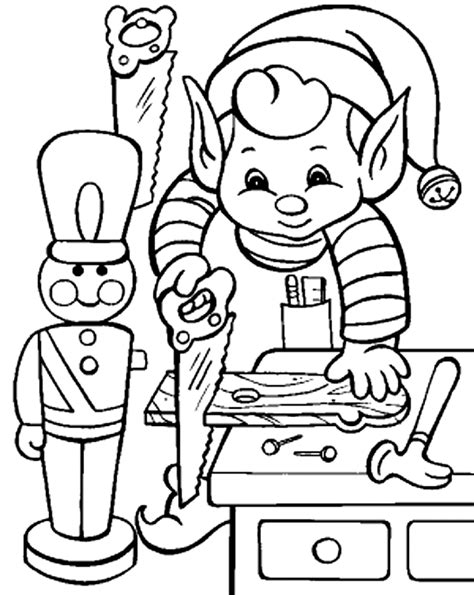 craft christmas elf coloring pages christmas coloring