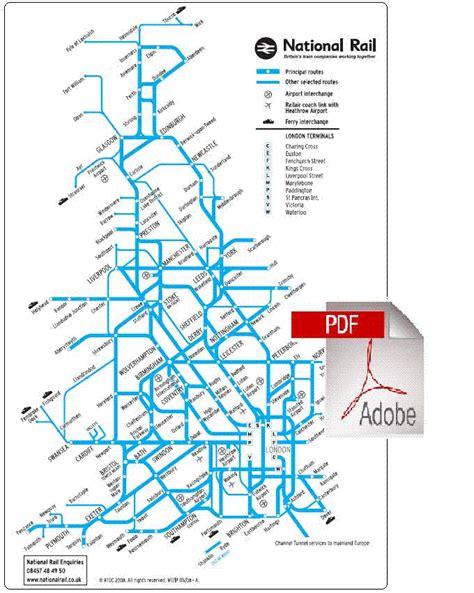 map uk rail lines map york