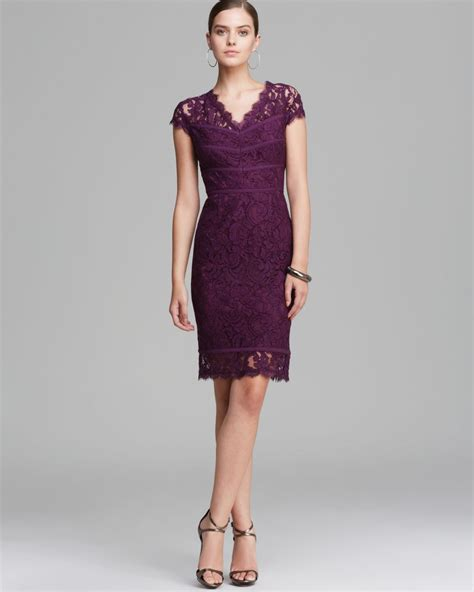 Cc29927 Dress Matt Cotton Viscose Size S M L Modis papell dress cap sleeve lace in purple lyst