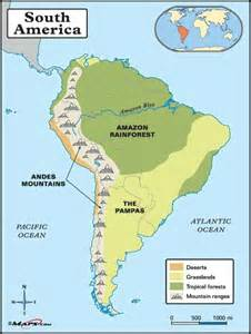 rainforest map south america andes map search south america