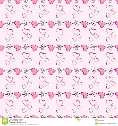 seamless heart pattern vector pink heart vector seamless pattern texture stock images