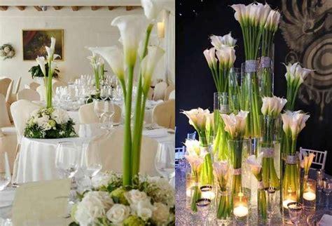 fiori le calle centrotavola di matrimonio con le calle i pi 249 eleganti
