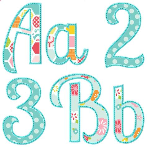 summer applique alphabet