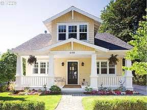 yellow and white houses charming bungelow home pinterest craftsman cute house and dark front door
