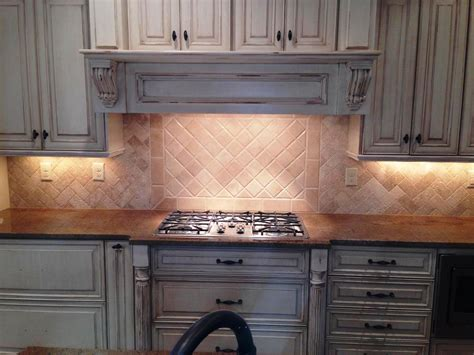travertine subway tile kitchen backsplash home design