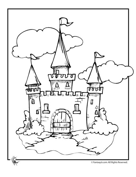 coloring page castle coloring pages cinderella castle coloring pages