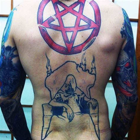 pentagon tattoo more pentagram tattoos models picture