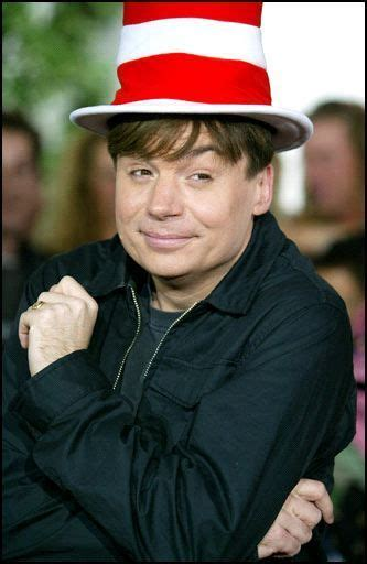 mike myers real voice filmmakers unleashed mike myers on the cat in the hat