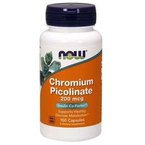 Chromium Picolinate Detox Liver by Now Foods Chromium Picolinate 200 Mcg 100 Capsules