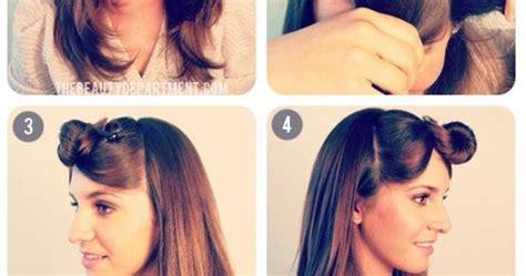 tutorial potong rambut emo kanubeea hair clip til sederhana dengan rambut kuncir