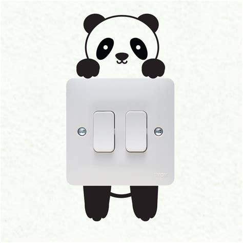 vinyl decals to decorate light switches and outlets