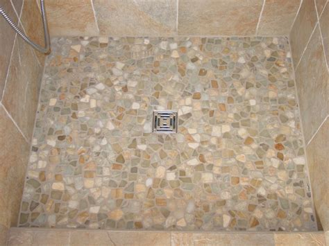 Ceramic Tile Designs For Bathrooms by Pebble Shower Floors For Tiled Showers How To Install