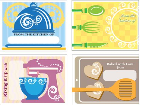 baking templates free printable baking gift tags