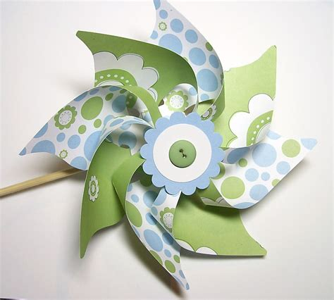 Handmade Pinwheels - learn to st and scrap with larson tutorial