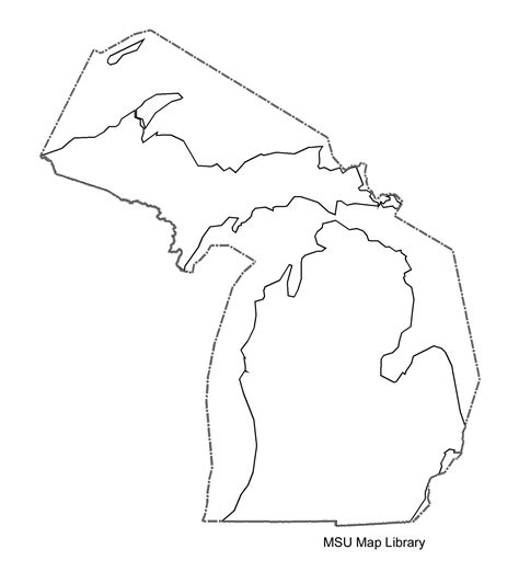 Printable Outline Of Michigan by Vector Outline Of Michigan Qbn